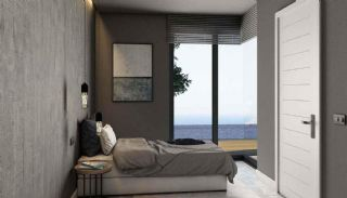 Detached Villas in Bodrum Mugla with Sea and Nature View, Interior Photos-1