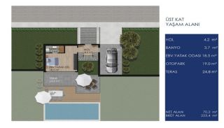 Detached Villas in Bodrum Mugla with Sea and Nature View, Property Plans-2