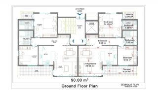 شقق حديثة البناء للبيع في بيلك, مخططات العقار-1
