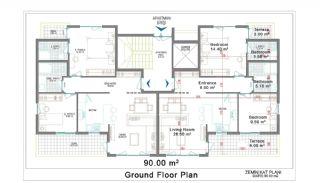 New Apartments for Sale in Belek, Planritningar-1