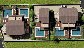 4 sovrum bekväma villor med privat pool i Belek, Planritningar-1