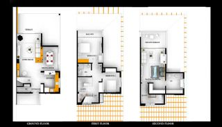 3 Bedroom Triplex Villas 7 Minutes to the Beach in Belek, Property Plans-1