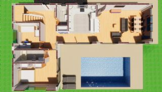 Futuristic Villa with Swimming Pool in Belek Antalya, Property Plans-1