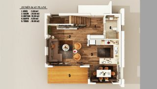 New Built Private Villas with Fully Furniture in Belek, Property Plans-1