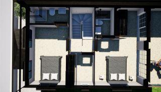 Halfvrijstaande villa's omgeven door groene gebieden in Belek, Vloer Plannen-1
