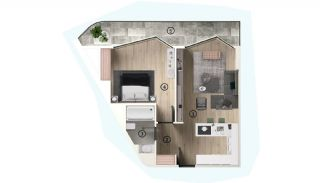Excellent Flats with Mountain View in Bursa Osmangazi, Property Plans-3