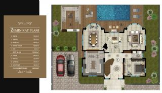 Luxury Unique Villas with Private Pool in Bursa, Property Plans-1