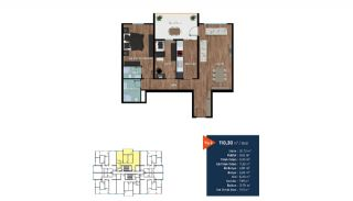 Modern Flats Short Distance to the Center of Bursa, Property Plans-1