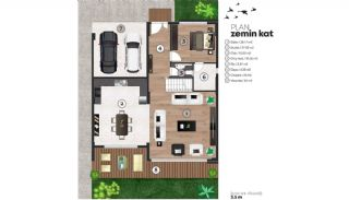 Detached Villas Interwined with Nature in Inegol Bursa, Property Plans-2