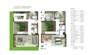 City and Forest View Deluxe Houses with Garden in Bursa, Property Plans-2