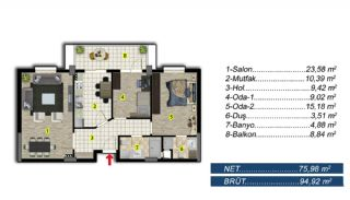 Brand New Apartments with Separate Kitchen in Bursa, Property Plans-1
