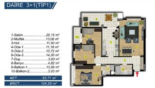 Brand New Apartments with Separate Kitchen in Bursa, Property Plans-2