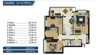 Brand New Apartments with Separate Kitchen in Bursa, Property Plans-3