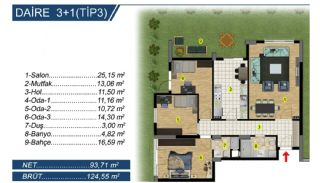 Brand New Apartments with Separate Kitchen in Bursa, Property Plans-4