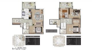 Modern Apartments with Quality Design in Nilufer Bursa, Property Plans-1