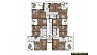 Central Apartments Surrounded by Parks in Nilufer Bursa, Property Plans-1