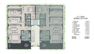 Недвижимость в Бурсе в Комплексе, Адаптированном для Инвалидов, Планировка -3