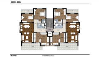 Key-Ready Flats with Sea and Forest View in Mudanya, Bursa, Property Plans-2