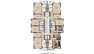 Nyckelfärdiga lägenheter vid centrala läget i Nilüfer Bursa, Planritningar-1
