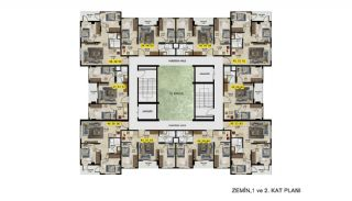 Меблированные Квартиры с Инвестиционным Потенциалом в Бурсе, Планировка -2