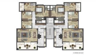 Modern Luxury Apartments in New Project in Nilufer Bursa, Property Plans-2