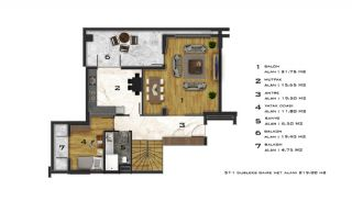 Affordable Flats of Modern Residential Project in Bursa, Property Plans-1