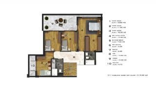Affordable Flats of Modern Residential Project in Bursa, Property Plans-3