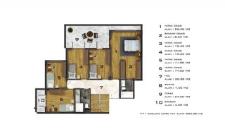 Affordable Flats of Modern Residential Project in Bursa, Property Plans-6