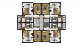 Affordable Flats of Modern Residential Project in Bursa, Property Plans-8