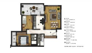 Affordable Flats of Modern Residential Project in Bursa, Property Plans-9