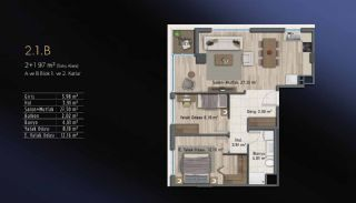 Smart Flats Offering Comfortable Life in Kadıköy Istanbul, Property Plans-11