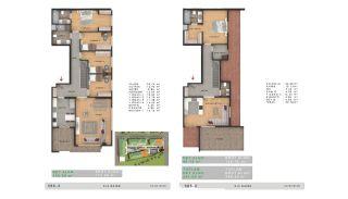 Sea View Properties in a Complex in Büyükçekmece Istanbul, Property Plans-1
