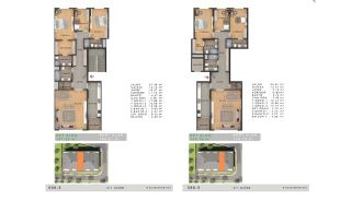 Недвижимость с Видом на Море в Комплексе в Бююкчекмедже, Стамбул, Планировка -10