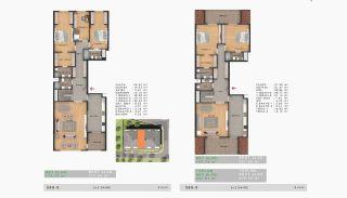 Sea View Properties in a Complex in Büyükçekmece Istanbul, Property Plans-15