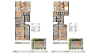 Недвижимость с Видом на Море в Комплексе в Бююкчекмедже, Стамбул, Планировка -18
