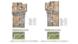 Sea View Properties in a Complex in Büyükçekmece Istanbul, Property Plans-2