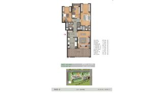 Недвижимость с Видом на Море в Комплексе в Бююкчекмедже, Стамбул, Планировка -4