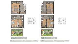 Sea View Properties in a Complex in Büyükçekmece Istanbul, Property Plans-6