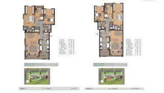 Sea View Properties in a Complex in Büyükçekmece Istanbul, Property Plans-8