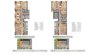 Sea View Properties in a Complex in Büyükçekmece Istanbul, Property Plans-9