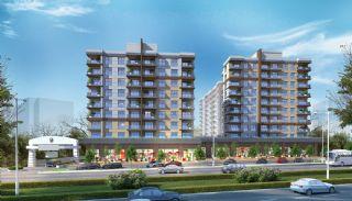 Appartementen aan de zich snelst ontwikkelende straat in Küçükçekmece, Istanbul / Kucukcekmece