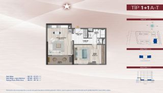 Appartementen aan de zich snelst ontwikkelende straat in Küçükçekmece, Vloer Plannen-1