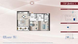 Appartementen aan de zich snelst ontwikkelende straat in Küçükçekmece, Vloer Plannen-3
