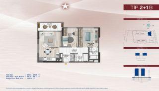 Appartementen aan de zich snelst ontwikkelende straat in Küçükçekmece, Vloer Plannen-5