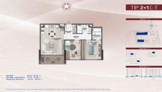Appartementen aan de zich snelst ontwikkelende straat in Küçükçekmece, Vloer Plannen-6