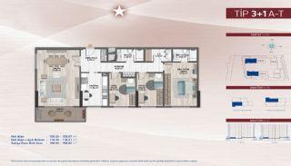 Appartementen aan de zich snelst ontwikkelende straat in Küçükçekmece, Vloer Plannen-7