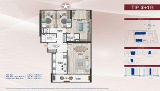 Appartementen aan de zich snelst ontwikkelende straat in Küçükçekmece, Vloer Plannen-9