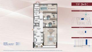 Appartementen aan de zich snelst ontwikkelende straat in Küçükçekmece, Vloer Plannen-10