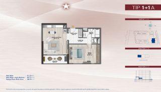Appartementen aan de zich snelst ontwikkelende straat in Küçükçekmece, Vloer Plannen-11