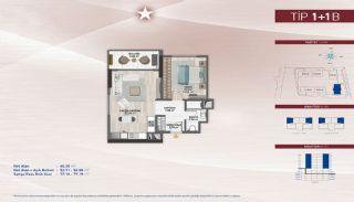 Appartementen aan de zich snelst ontwikkelende straat in Küçükçekmece, Vloer Plannen-12